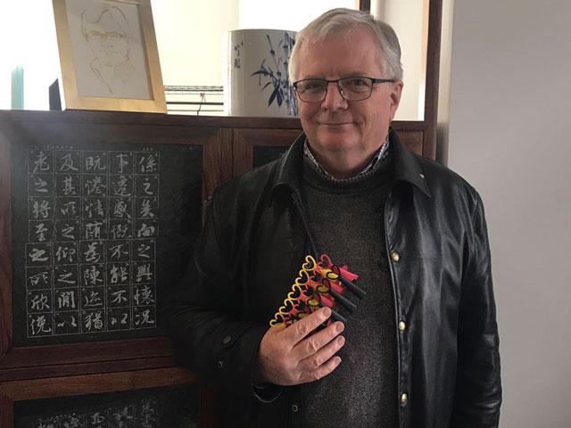 Stephen Sexton with Pheroklip dispensers.